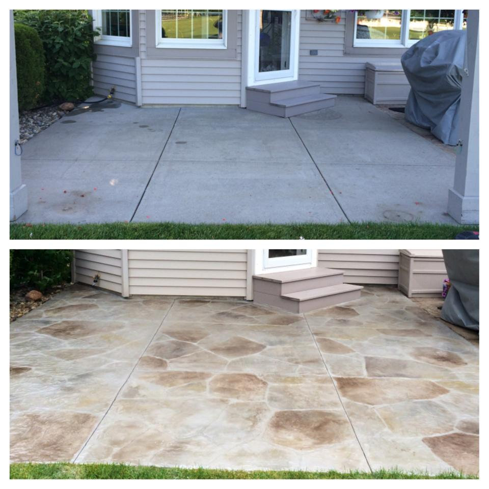Carved Stone Patio Overlay